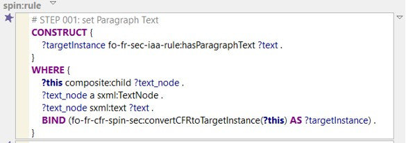 CFR paragraph text rule SPARQL